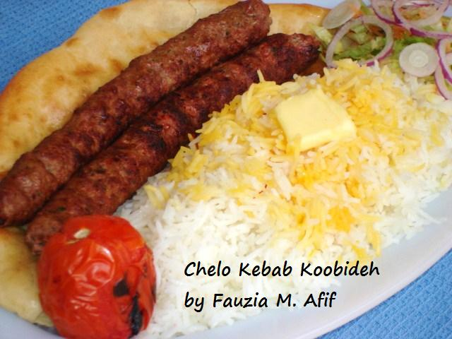 Chelo Kebab Koobideh Fauzia S Kitchen Fun