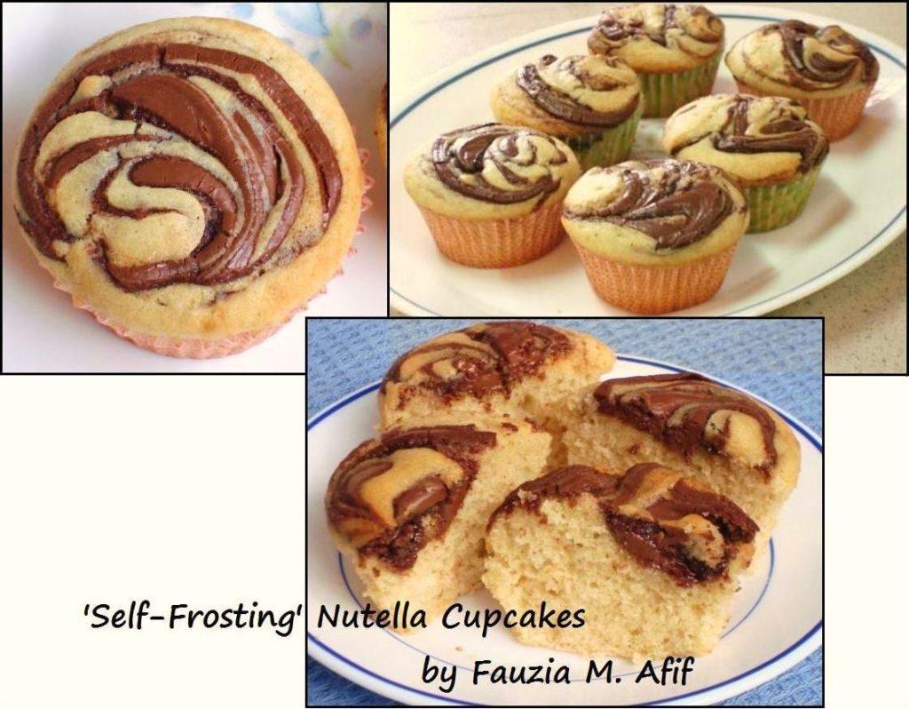 Self Frosting Nutella Cupcakes Fauzia S Kitchen Fun