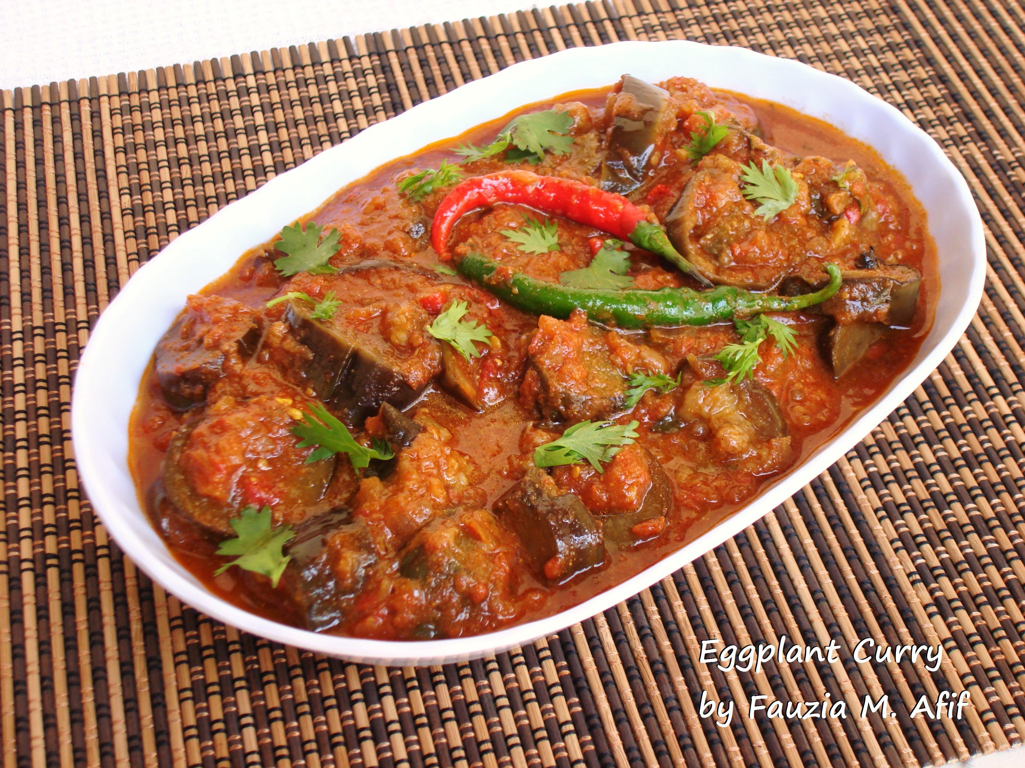 Eggplantbaingan Curry Fauzias Kitchen Fun