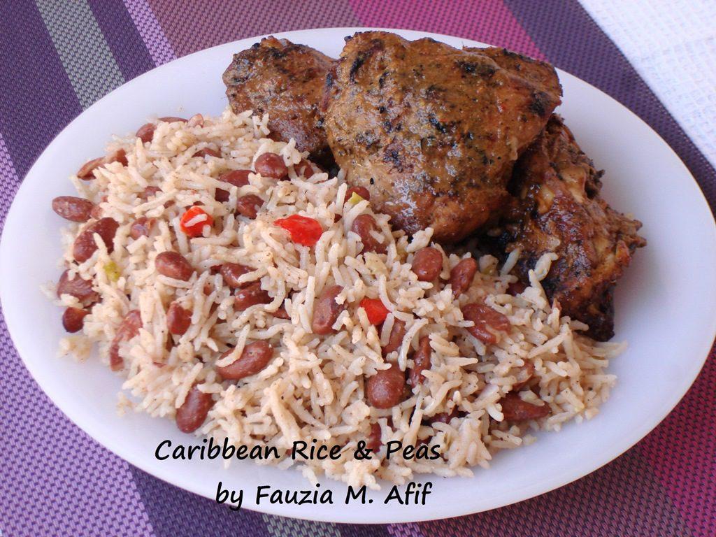 Caribbean Rice And Peas Fauzia S Kitchen Fun