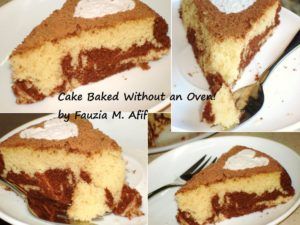 Marble Cake (Baked Without Oven)