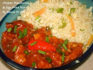 Chicken Manchurian & Egg-Fried Rice