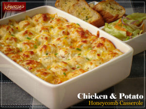 Chicken & Potato Honeycomb Casserole